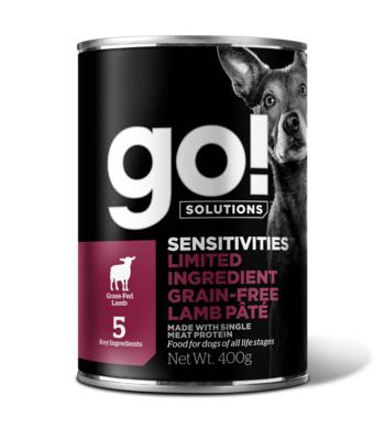Go! консервы беззерновые с ягненком для собак с чувствительным пищеварением, GO! Sensitivities Limited Ingredient Grain Free Lamb Pate DF
