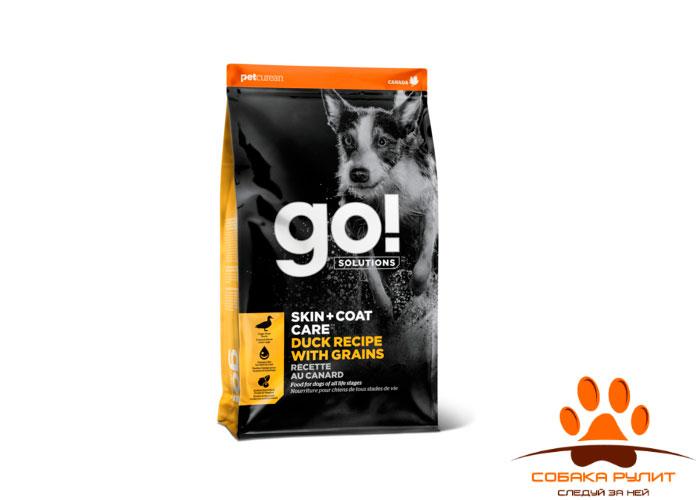 Корм GO! для щенков и собак, с цельной уткой и овсянкой, Sensitivity + Shine Duck Dog Recipe