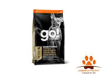 Корм GO! беззерновой для щенков и собак, с цельной уткой для чувствительного пищеварения, Sensitivity + Shine Duck Dog Recipe, Grain Free, Potato Free
