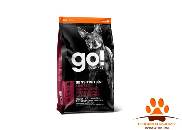 Корм GO! беззерновой для щенков и собак, с ягненком для чувствительного пищеварения, Sensitivity + Shine LID Lamb Dog Recipe, Grain Free, Potato Free