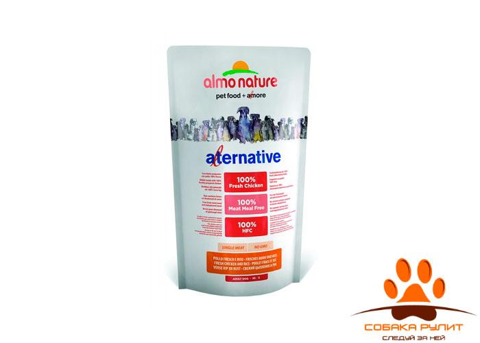 Корм Almo Nature Alternative корм со свежим цыпленком и рисом (50% мяса) для собак карликовых и мелких пород