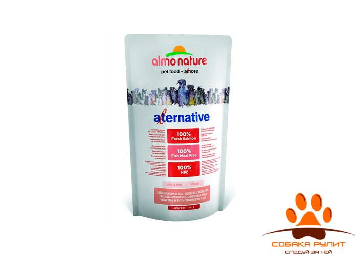 Корм Almo Nature Alternative корм со свежим лососем и рисом (50% мяса) для собак средних и крупных пород