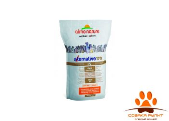 Корм Almo Nature Alternative корм со свежим цыпленком и рисом (75% мяса) для собак средних и крупных пород
