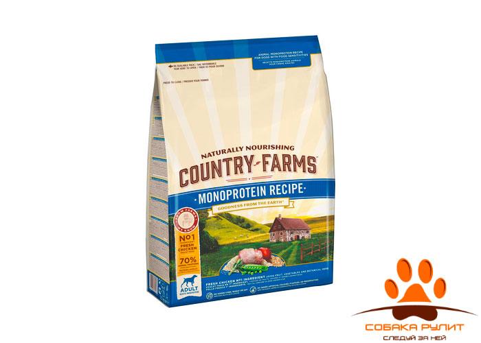 Country Farms монопротеиновый. Полнорационный корм для щенков, с высоким содержанием курицы