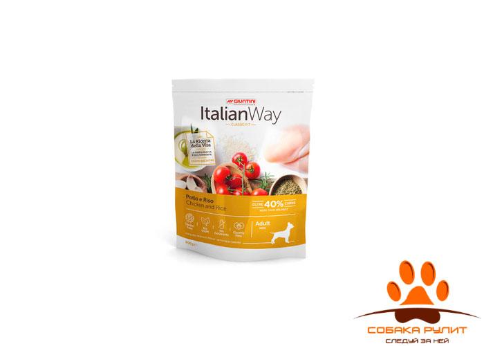Italian Way безглютеновый, для собак малых пород, с курицей и рисом, Mini Chicken/Rice