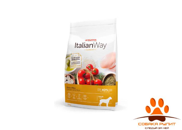 Italian Way безглютеновый, для собак крупных пород, с курицей и рисом, Maxi Chicken/Rice