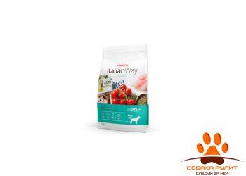 Italian Way беззерновой, для собак, со свежей форелью и черникой, контроль веса и профилактика аллергии, Medium Ideal Weight Trout/Blueberry