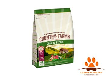 Country Farms сухой корм полнорационный для взрослых собак, с высоким содержанием ягненка