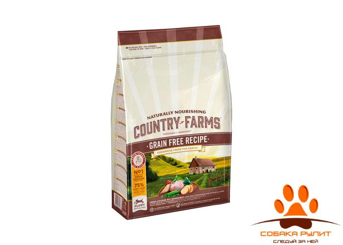 Country Farms беззерновой. Полнорационный корм для взрослых собак, с высоким содержанием курицы