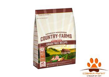 Country Farms беззерновой. Полнорационный корм для щенков мелких пород, с высоким содержанием индейки