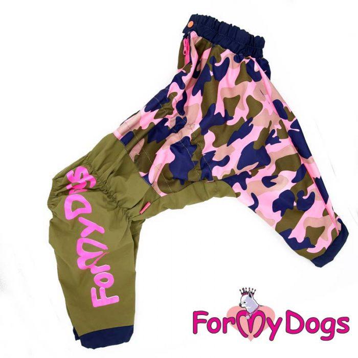 FMD дождевик Камуфляж хаки/розовый на девочку D1