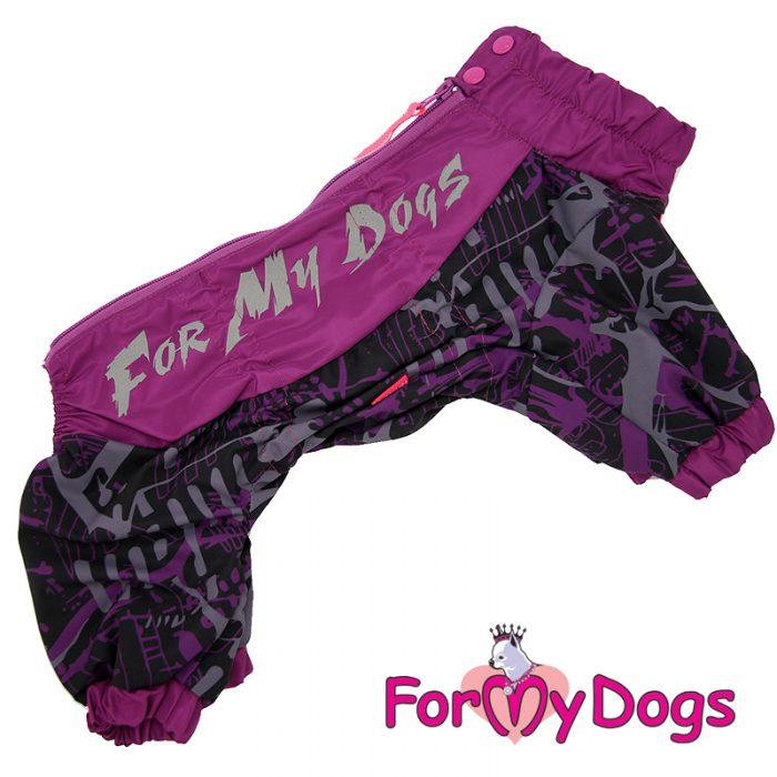 FMD дождевик фиолетовый неон для девочек А2